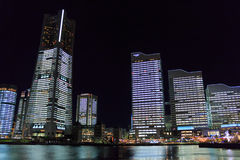 Lighting of all of the buildings at Minatomirai, Yokohama Stock Photo