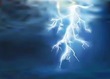 Lighting background dark vector design. Thunder, lighting in the dark background vector Stock Illustration