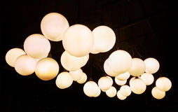 Lighting ball hanging from the ceiling Stock Photos
