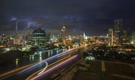 Lighting of Bangkok city at night Royalty Free Stock Photography