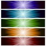 lighting banner set Royalty Free Stock Image