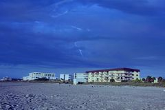 Lighting at the beach. Thunderstorm Lighting at the beach Stock Photography