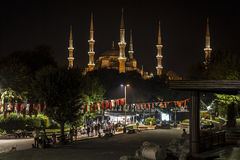 Lighting  Blue Mosque in the night Royalty Free Stock Photo