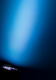 Lighting at a blue wall 1 Royalty Free Stock Photo