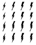 Lighting bolt Icons Royalty Free Stock Photo