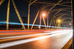 Lighting on the bridge Royalty Free Stock Image