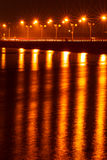 Lighting, bridges and surface water. Stock Image