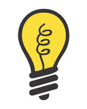 Lighting bulb royalty free illustration