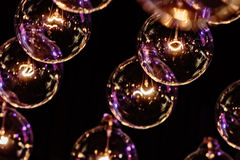 Lighting Bulb Decor. Close up Stock Photo