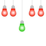 Lighting bulb idea Stock Images
