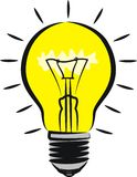 Lighting bulb - idea Stock Image
