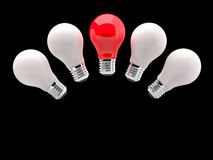Lighting Bulb White and Red Royalty Free Stock Photo