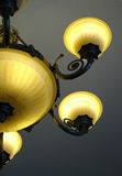 Lighting bulbs. Luxury lighting bulbs with a golden light Stock Images