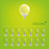 Lighting bulbs Royalty Free Stock Images