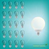 Lighting bulbs Stock Photo