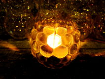 Lighting Candle. In the Dark Royalty Free Stock Images