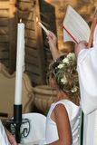 Lighting the candles Royalty Free Stock Photography