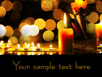 Lighting candles Stock Photos