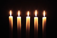 Lighting Candles Stock Photos