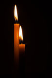 Lighting candles Stock Images