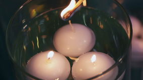 Lighting candles Royalty Free Stock Photos