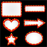 Lighting casino sign vector. Set of lighting casino sign vector Stock Photography