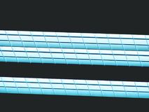 Lighting ceiling panels. Fluorescent lamps on the modern ceiling. Luminous ceiling of square tiles Royalty Free Stock Image