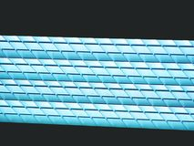 Lighting ceiling panels. Fluorescent lamps on the modern ceiling. Stock Photography