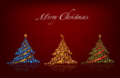 Lighting Christmas tree vector Stock Images