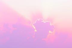 Lighting cloud on the sky. Stock Photos