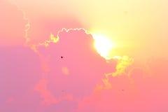 Lighting cloud on the sky. Stock Photo