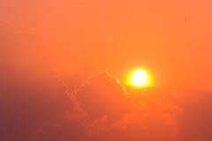 Lighting cloud on the sky. Stock Image