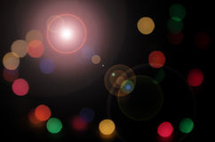 Lighting color spots. Colored circle and flare of spotlight Stock Photography