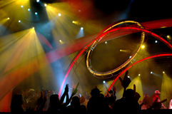 Lighting at concert Royalty Free Stock Photo