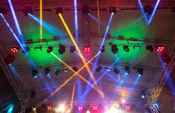 Lighting the concert stage Royalty Free Stock Images