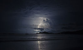Lighting in the dark ocean Royalty Free Stock Image