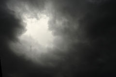 Lighting in the dark thunderstorm Royalty Free Stock Photo
