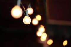 Lighting decor. Blur lamps with dark background Stock Photo