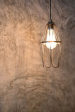Lighting decor on cement wall Royalty Free Stock Photography