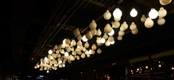 Lighting decorating on ceiling Royalty Free Stock Images