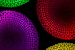 Lighting Designs Colorful. Photo design lamps colorful on a black background Royalty Free Stock Photos