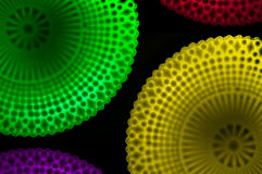Lighting Designs Colorful. Photo design lamps colorful on a black background Stock Image
