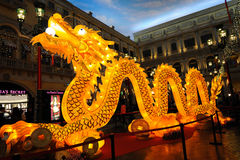 Lighting dragon in the venetian Stock Photography