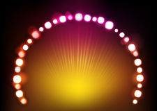 Lighting Effect 002. Abstract dot bright lighting effect Stock Photography