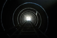 Lighting the end of the tunnel. Stock Image