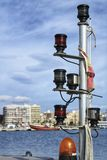Lighting equipment on a boat royalty free stock photos