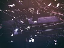Lighting Equipment Concert stage Electric device. Light system Royalty Free Stock Photo