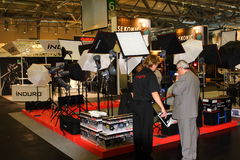 Lighting Equipment Stand at Photokina 2008 Royalty Free Stock Image