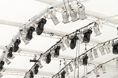 Lighting equipment under roof Royalty Free Stock Photography