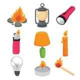 Lighting equipment vector collection design vector illustration